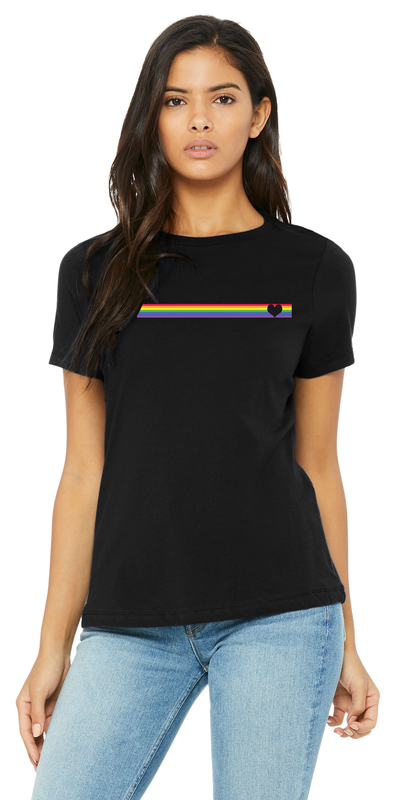 Striped Pride - Relaxed Tee