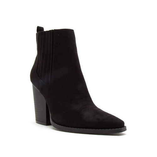 Slay Pointy Toe Block Heeled Bootie