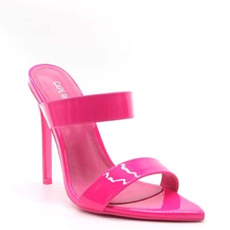 Sangria Open-To Heeled Mule Sandals