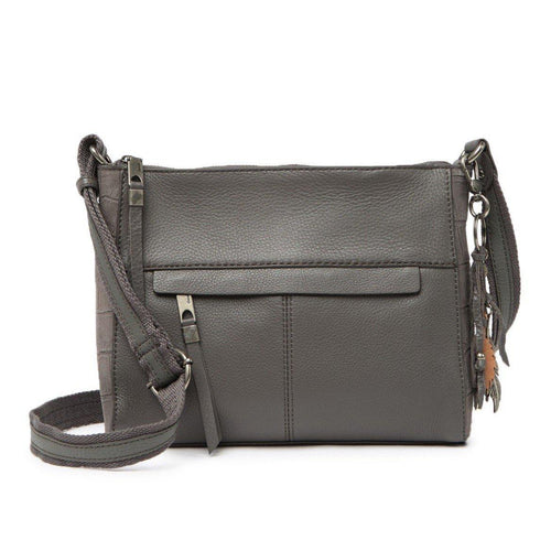 Alameda Leather Crossbody Gray