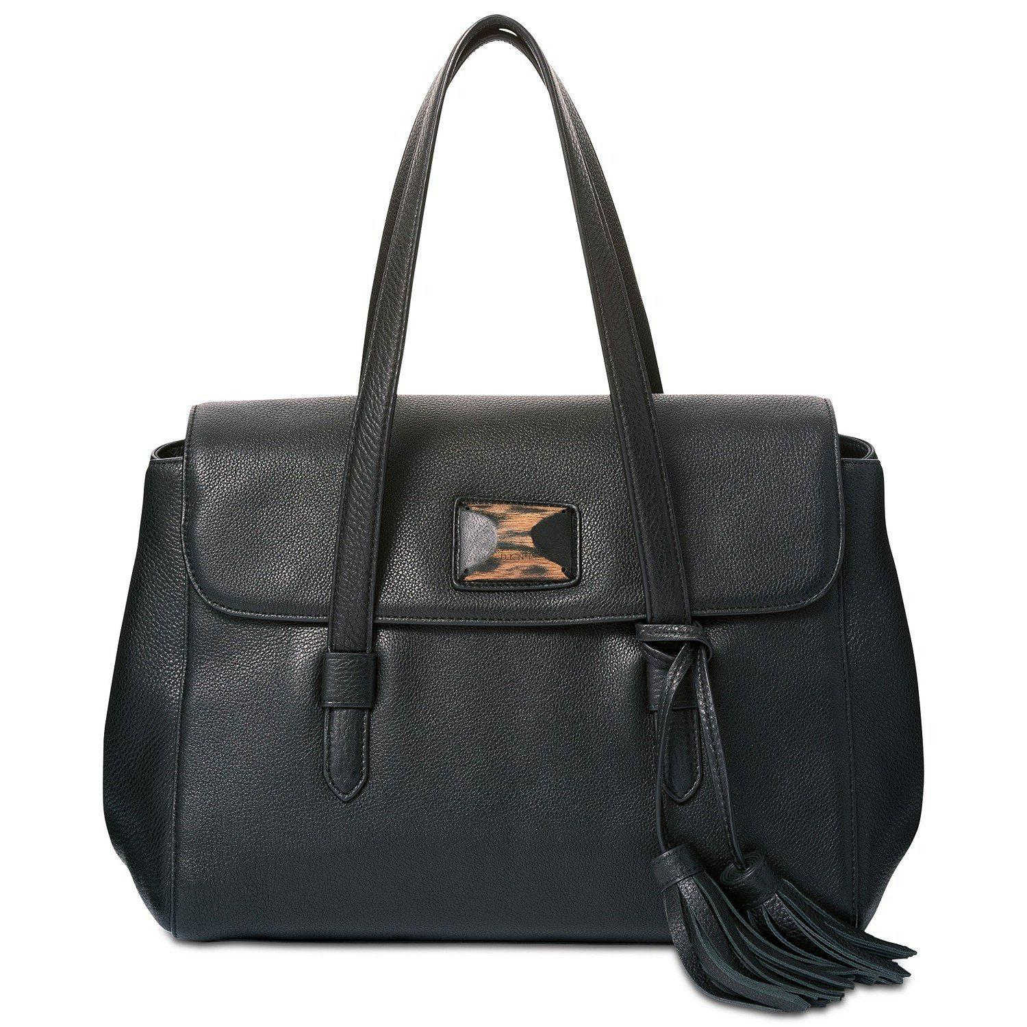 DKNY Alix Medium Flap Satchel-Handbags & Accessories-DKNY-ShoeShock