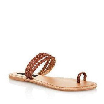 Aqua Women's Slay Braided Strappy Sandals