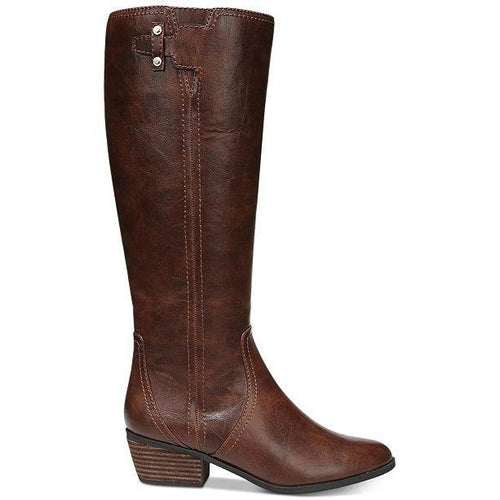 Dr. Scholl's Women's Brilliance Block Heel Tall Boots Whiskey-Shoes-Dr. Scholl's-6.5-ShoeShock