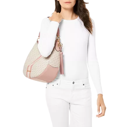 Brooke Large Leather Zip Hobo