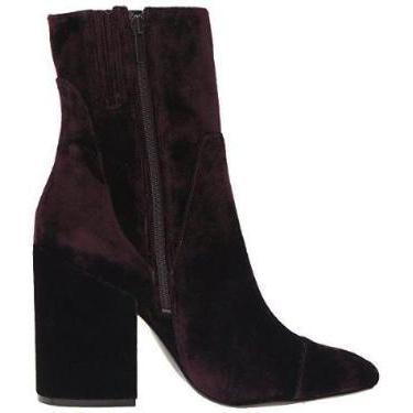 Kendall and Kylie Brooke Velvet Block Heel Booties-Shoes-Kendall + Kylie-6-ShoeShock