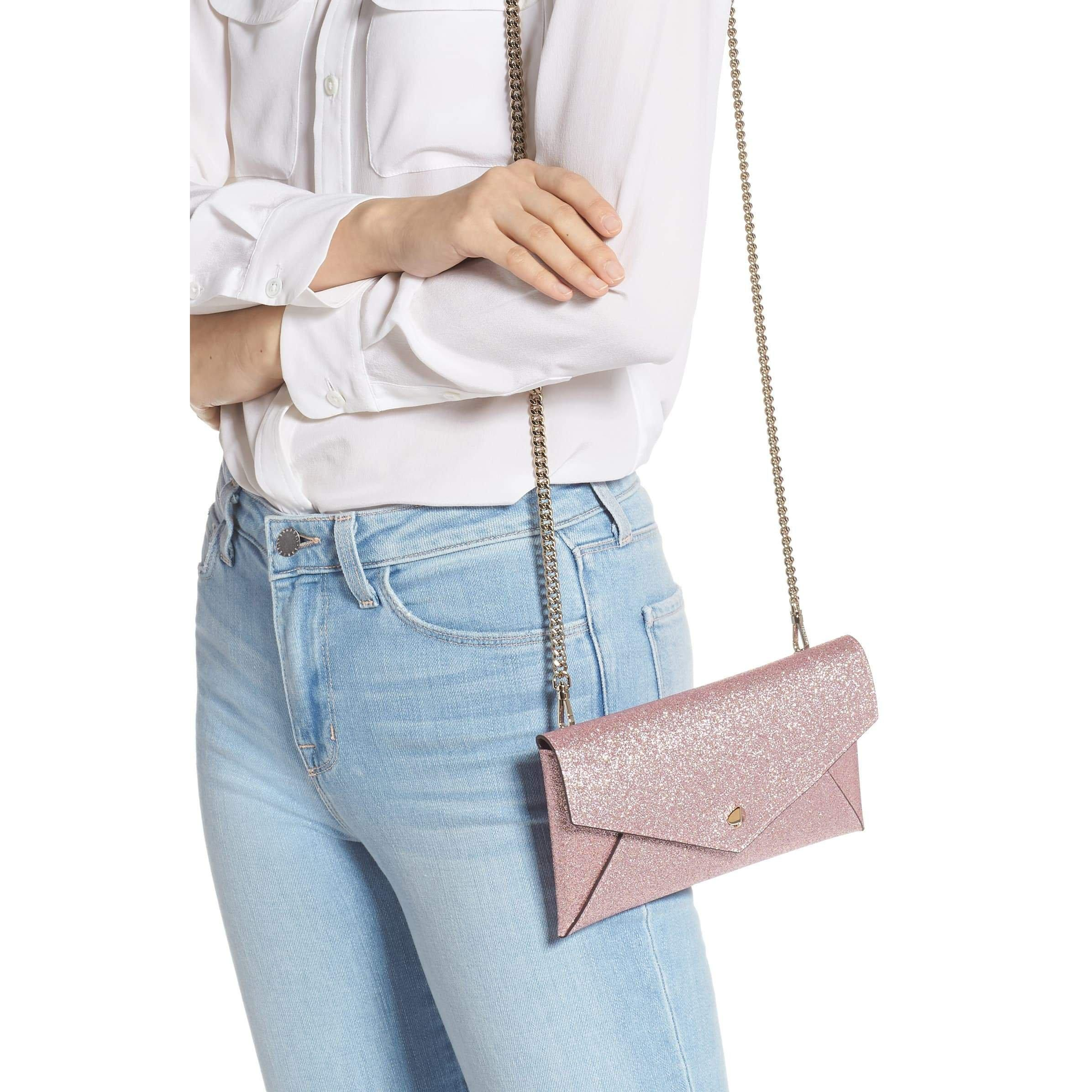 Burgess Court - Glitter Leather Crossbody Clutch