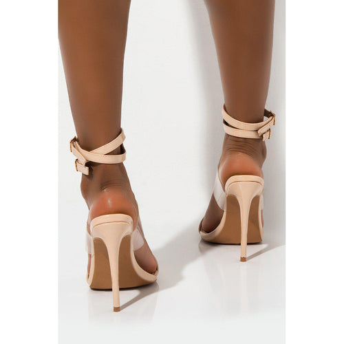 Damita Nude Clear Stiletto Open Toe Sandals
