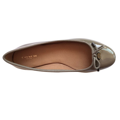 Coach Lara Round Toe Patent Leather Ballet Flats-Shoes-Coach-7-ShoeShock