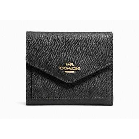 COACH Small Wallet in Crossgrain Leather-Handbags & Accessories-Coach-ShoeShock