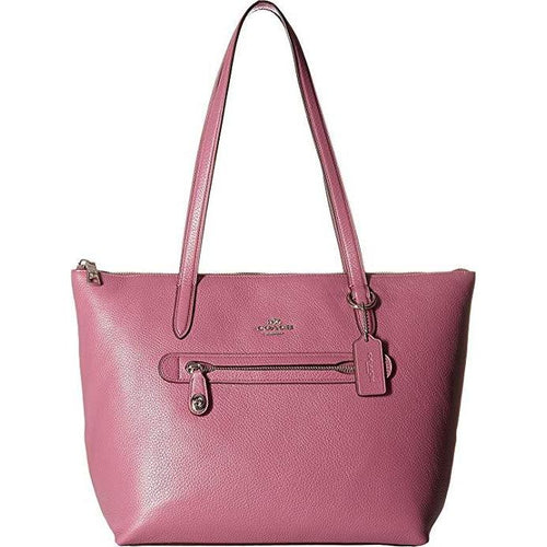 COACH - Taylor Tote in Pebbled Leather (Sv/Primrose) Tote Handbags-Handbags & Accessories-Coach-ShoeShock