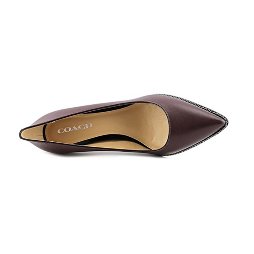 Coach Vonna Pointy Toe Leather Pump-Shoes-Coach-5.5-ShoeShock
