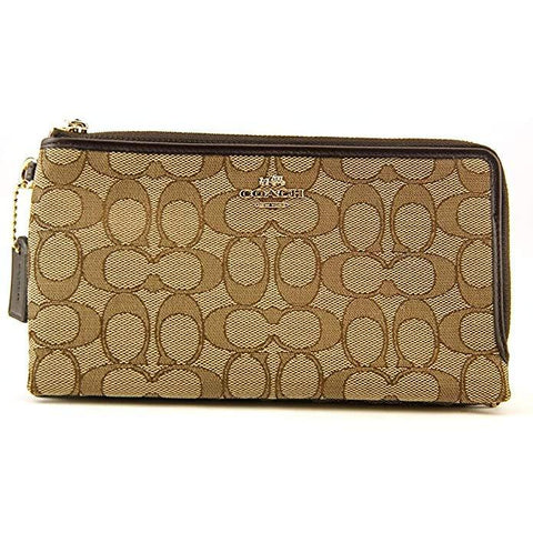 95bc800e4d71 ... coupon code for coach womens signature double zip wallet 6798a 2cd17