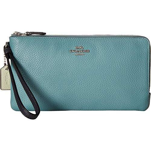 Color Block Double Zip Wallet-Handbags & Accessories-Coach-ShoeShock