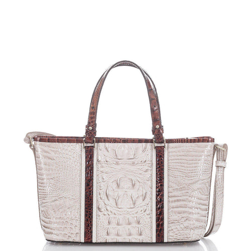 Crestview Mini Asher Seashell Embossed Leather Satchel