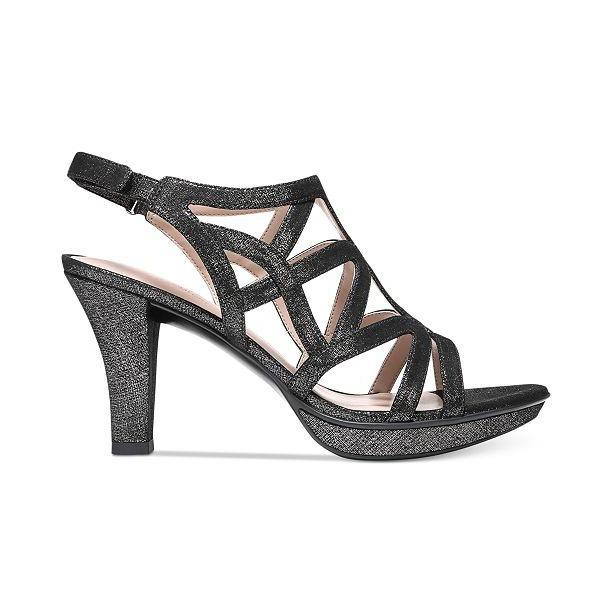 Danya Black/Pewter Metallic Sandals