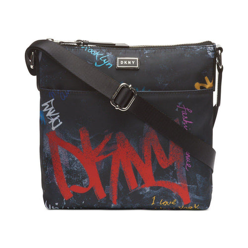 Dkny Gigi Graffiti Logo North-South Crossbody