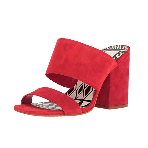 Dolce Vita Two Band Block Heel Slide Mule Sandals-Shoes-Dolce Vita-7-ShoeShock