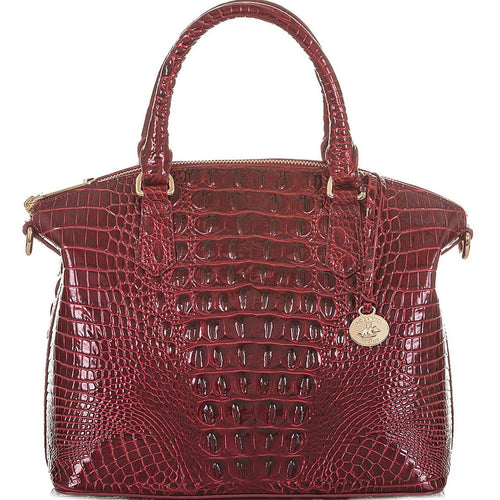 Duxbury Croc Embossed Leather Satchel