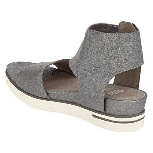 Eileen Fisher Platform Sandals Spree Silver-Shoes-Eileen Fisher-6-ShoeShock