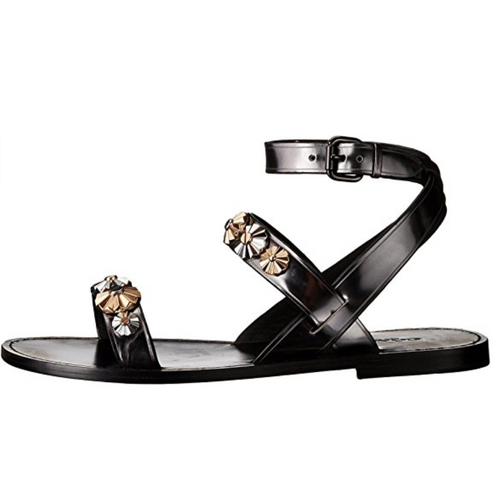 Eleanor Gunmetal Metallic Women's Sandal-Shoes-Coach-6-ShoeShock