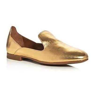 Emmaline Gold Metallic Leather Weatherproof Loafers-Shoes-Aquatalia-6.5-ShoeShock