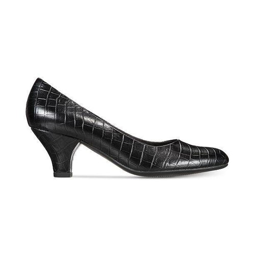 Fabulous Almond Toe Croco Slip On Pumps