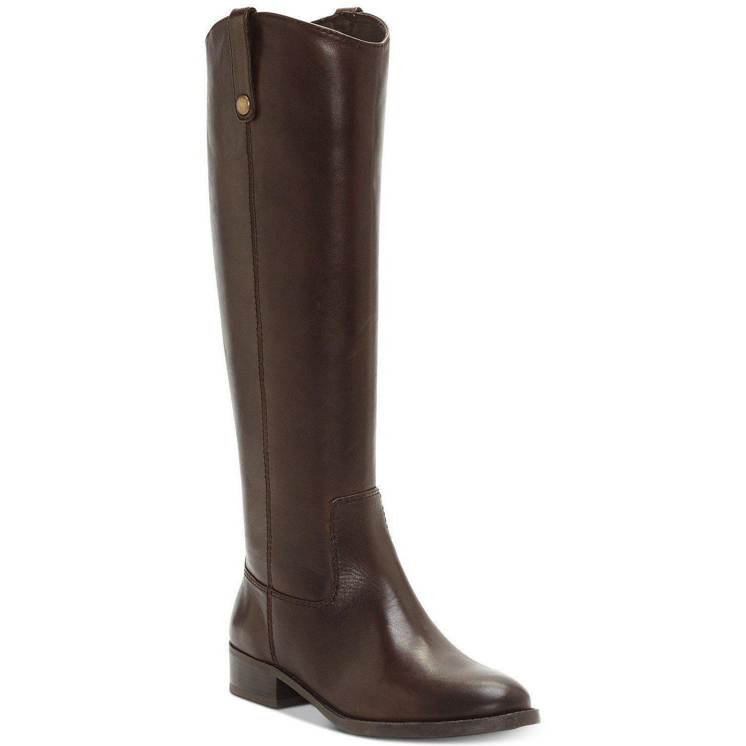 Fawne Wide Calf Leather Riding Boots