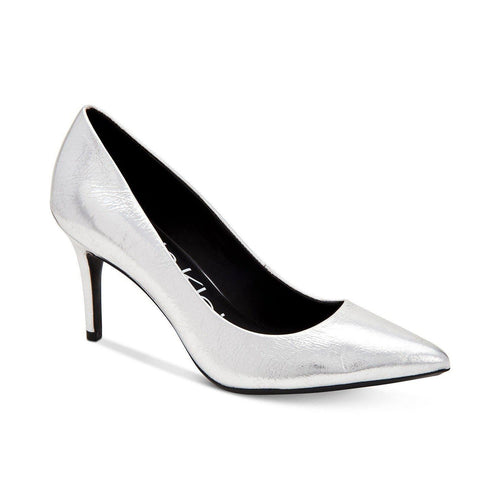 Gayle Silver Metallic Pumps