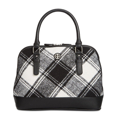 Giani Bernini Woven Plaid Satchel-Handbags & Accessories-Giani Bernini-ShoeShock