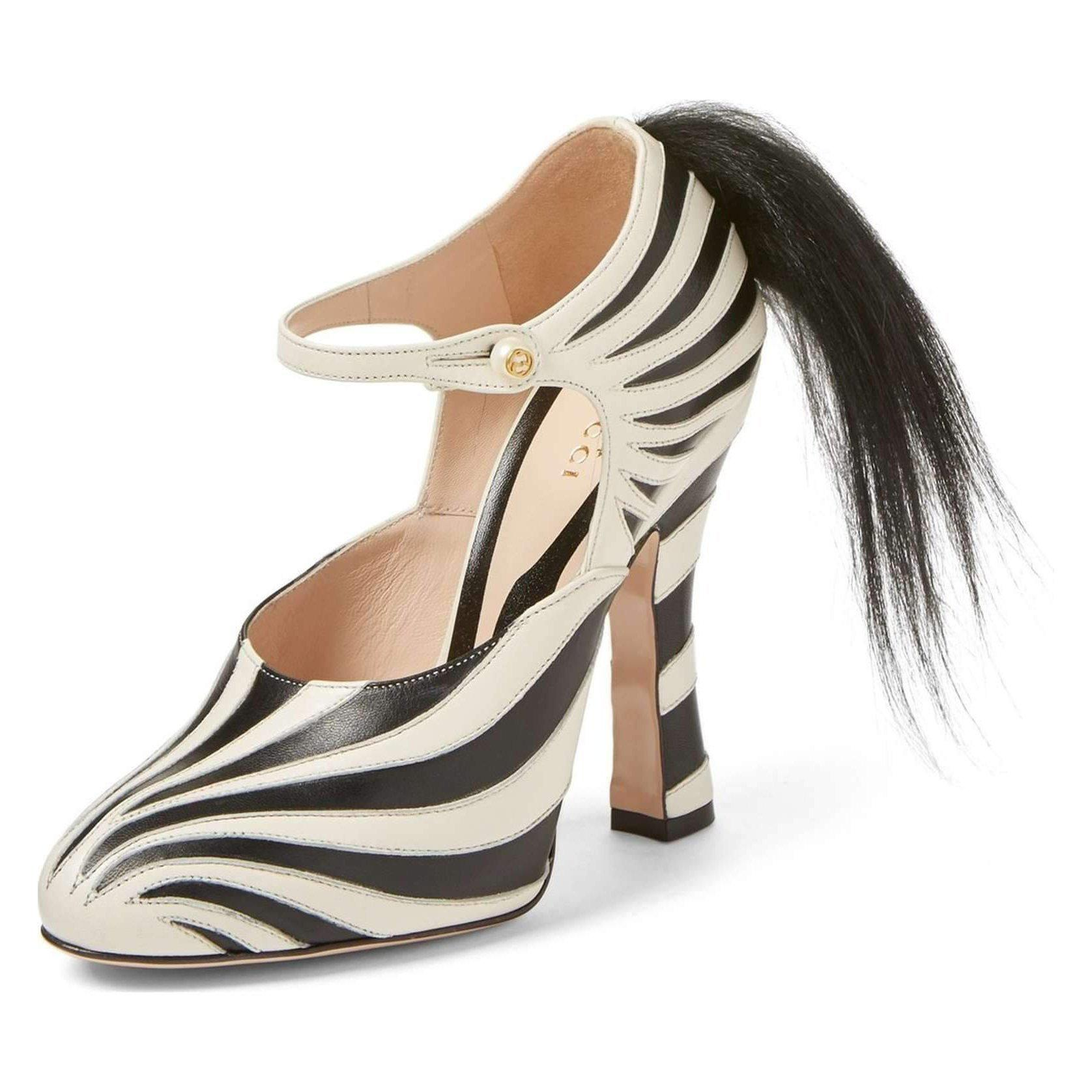 Gucci 'Lesley' Zebra Stripe Pump-Shoes-Gucci-6.5-ShoeShock