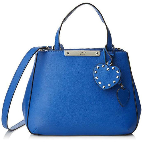 GUESS Britta Society Satchel Blue-Handbags & Accessories-Guess-ShoeShock