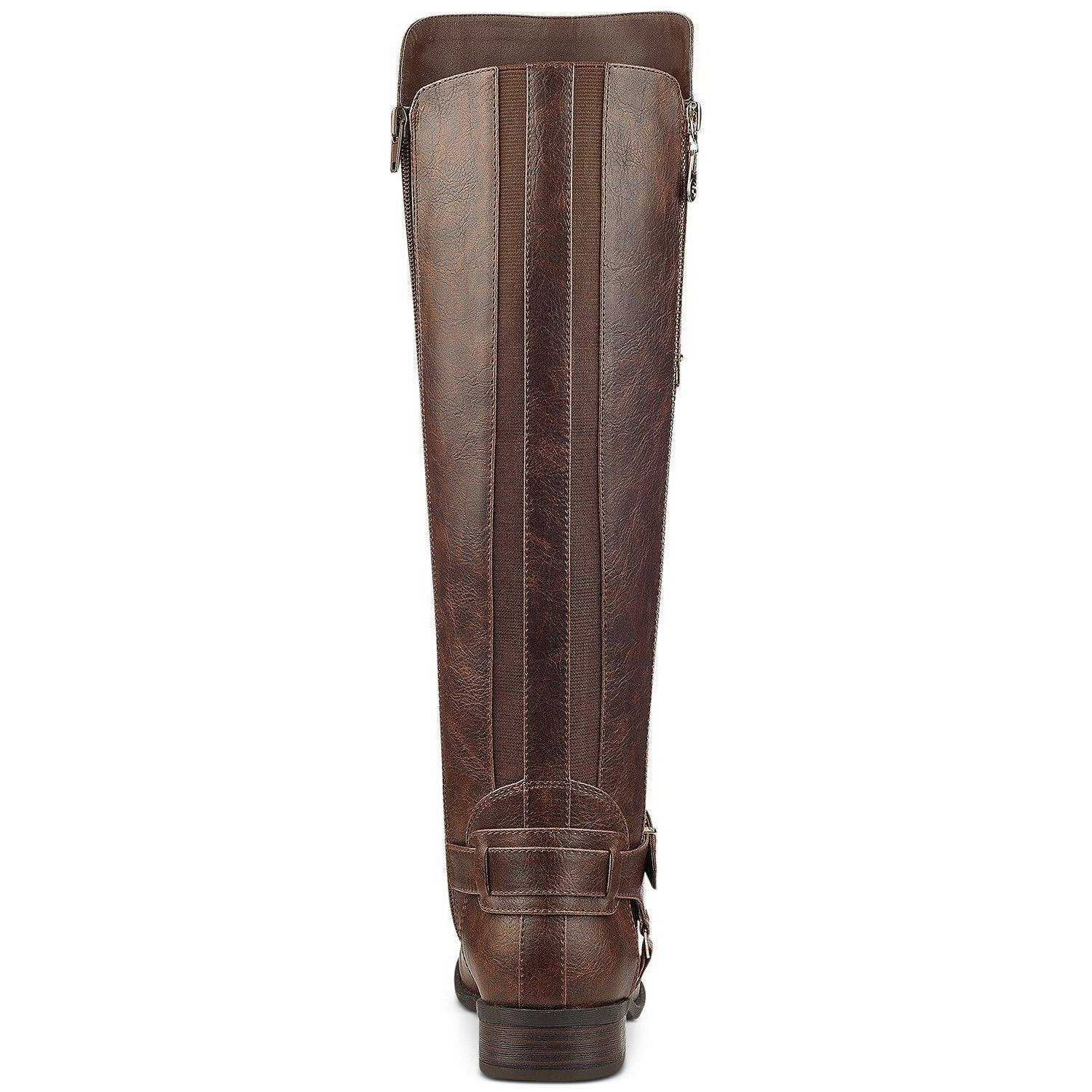G by Guess Harson Wide-Calf Tall Boots Women's Shoes Brown-Shoes-G By Guess-6-ShoeShock