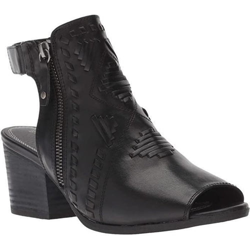 Ivalyn Block Heel Open Toe Bootie