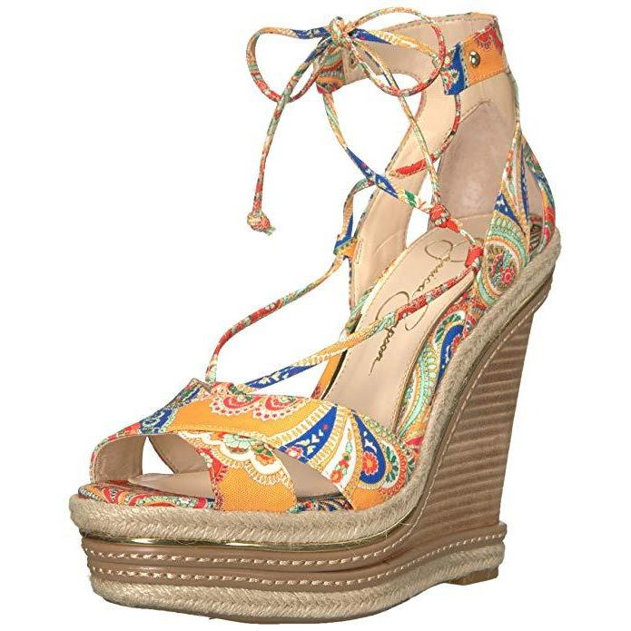 Jessica Simpson Adyson Lace-Up Wedge Sandals-Shoes-Jessica Simpson-6-ShoeShock