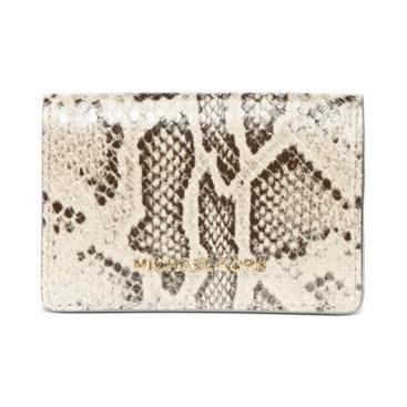 Jet Set Flap Card Case White/Brown