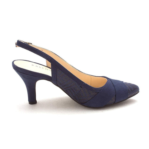 Karen Scott Ghwen Women's Navy Pointed-Toe Pumps-Shoes-Karen Scott-6.5-ShoeShock