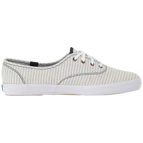 Keds Women's Champion Railroad-Stripe Lace-Up Sneakers-Shoes-Keds-6-ShoeShock