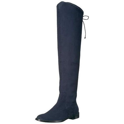 Kenneth Cole Reaction Wind Chime Navy Over-The-Knee Boots-Shoes-Kenneth Cole-8-ShoeShock