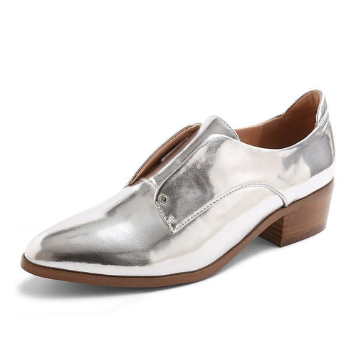 "Kensie® ""Dante"" Slip-on Oxfords Silver-Shoes-Kensie-7-ShoeShock"