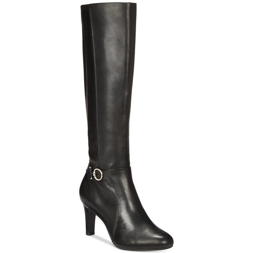 Lella Leather Almond Toe Knee High Boots