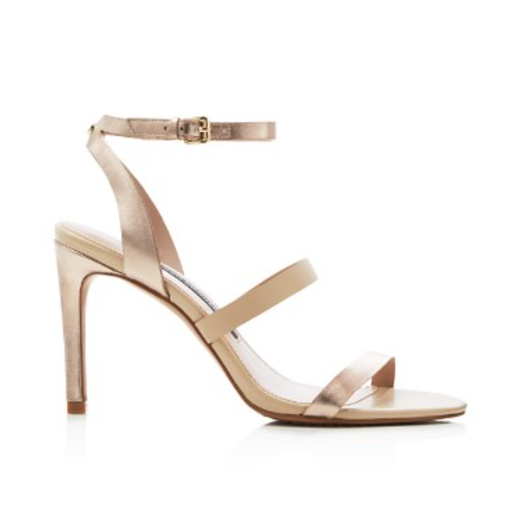 French Connection Lilly Metallic Strappy High Heel Sandals-Shoes-French Connection-6-ShoeShock