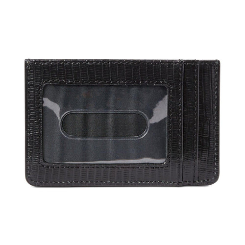 Lizard Embossed Slim Card Case Medium