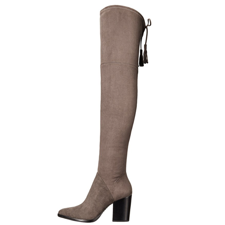 dc254ad04df Marc Fisher LTD Women s  Alinda  Over The Knee Gray Fabric Boot-Shoes-