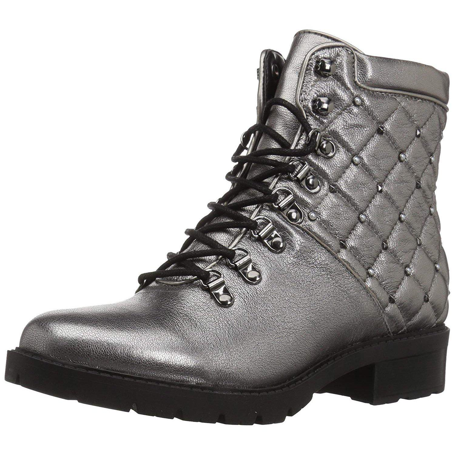 Marc Fisher Women's Lanzia Pewter Combat Boot-Shoes-Marc Fisher-7-ShoeShock