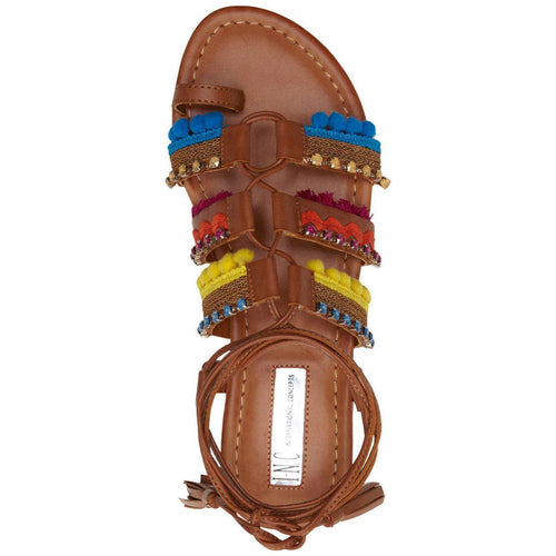 Inc Women's Mariani Lace-Up Flat Sandals-Shoes-INC-5.5-ShoeShock