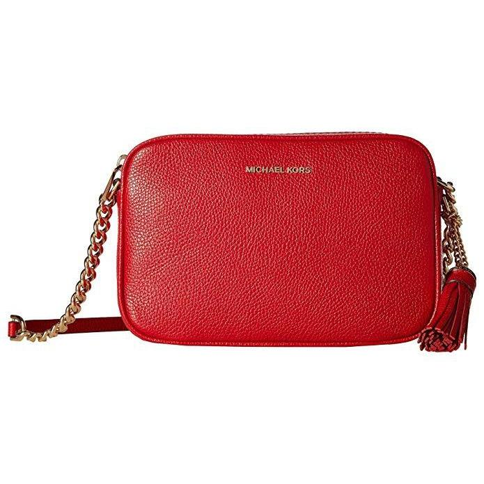 21ffe0afa2fe89 MICHAEL Michael Kors Ginny Leather Camera Crossbody Bag Bright Red-Handbags  & Accessories-Michael