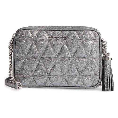 MICHAEL Michael Kors Ginny Quilted Medium Leather Camera Bag-Handbags & Accessories-Michael Kors-ShoeShock