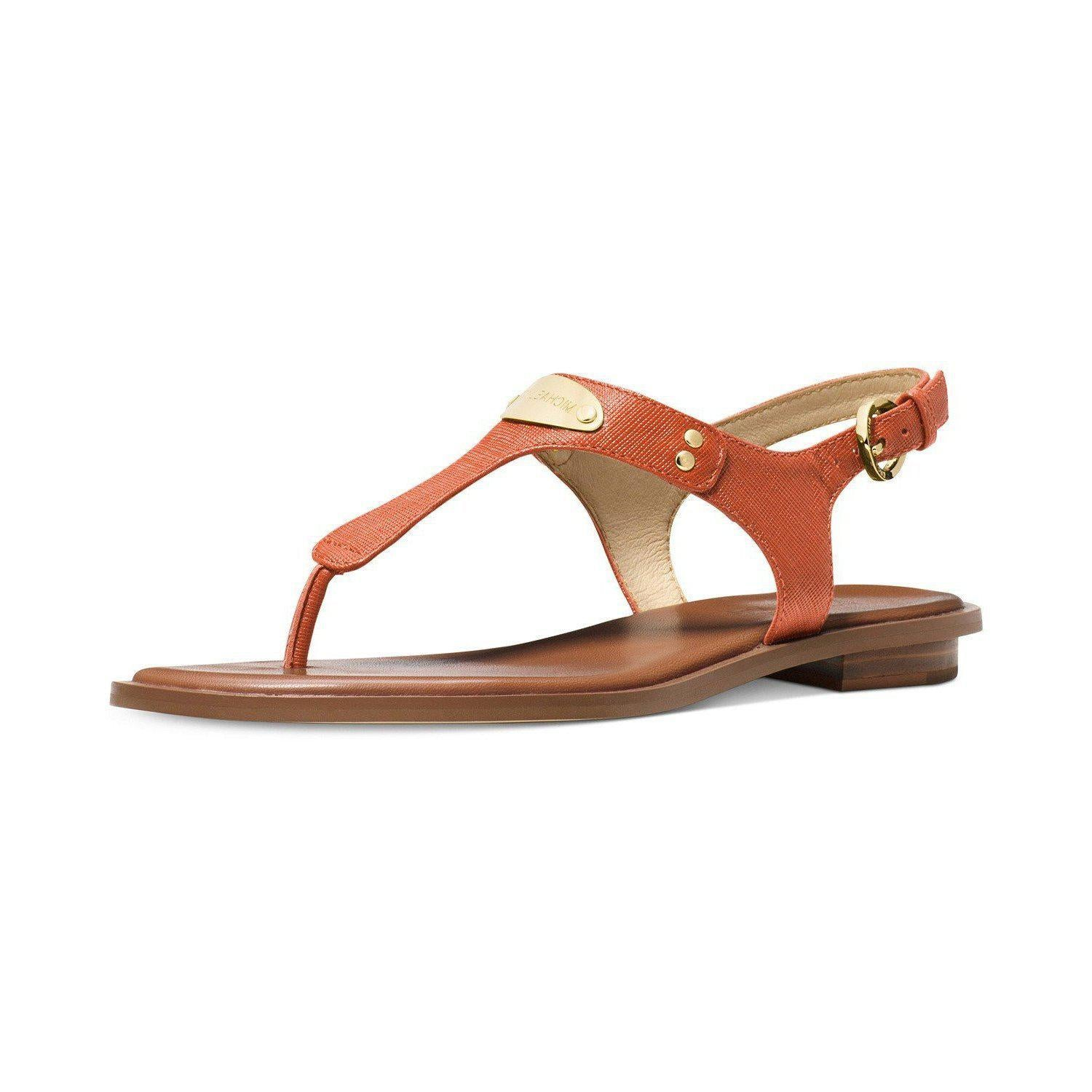 4e36c6751607d6 Michael Michael Kors Mk Plate Flat Thong Sandals-Shoes-Michael Kors-6.5-