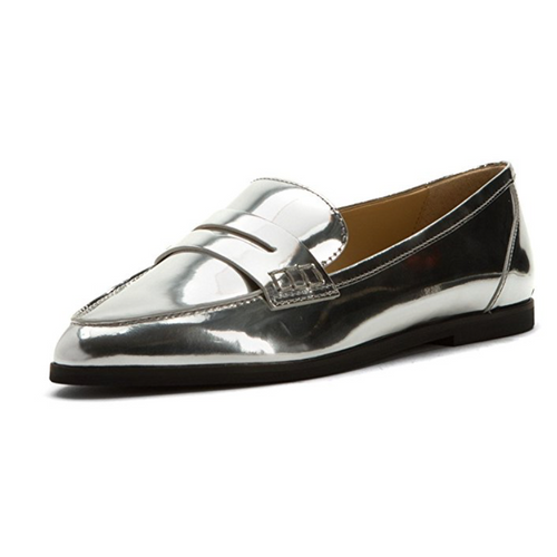 Michael Michael Kors Silver Metallic Connor Loafer-Shoes-Michael Kors-8.5-ShoeShock