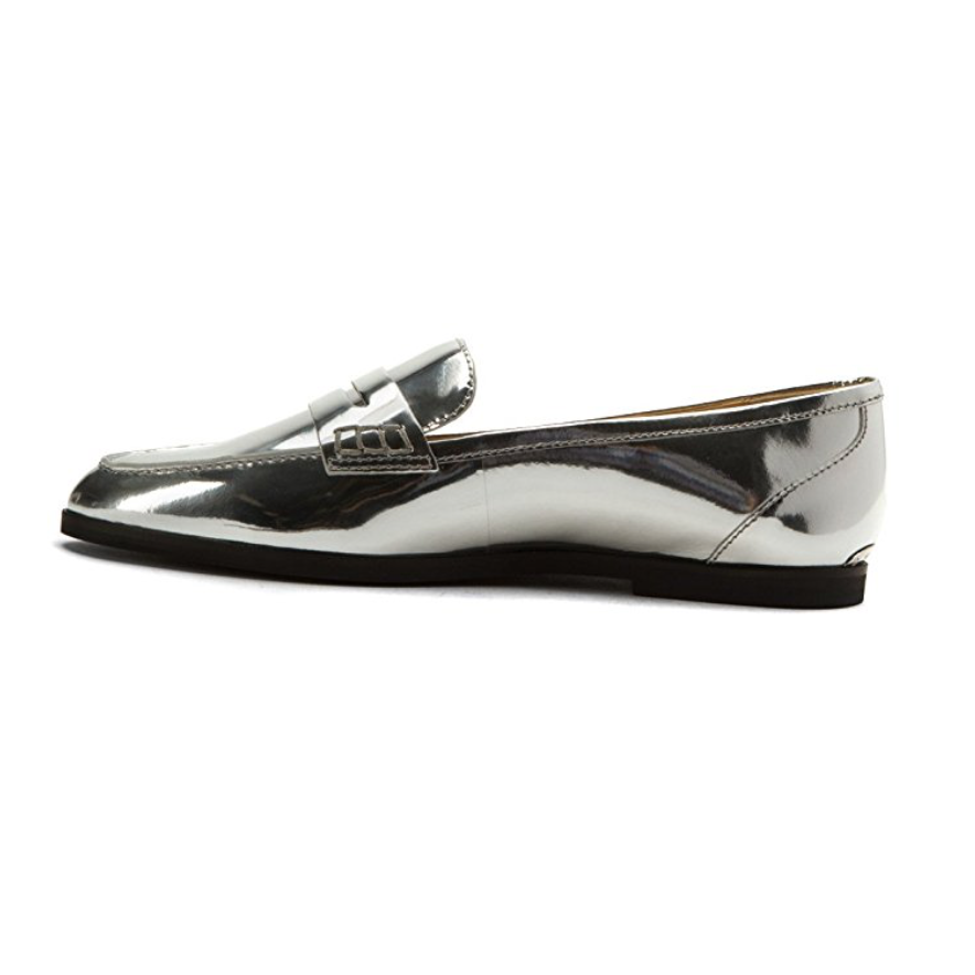 Michael Michael Kors Silver Metallic Connor Loafer Size 9-Shoes-Michael Kors-9-ShoeShock
